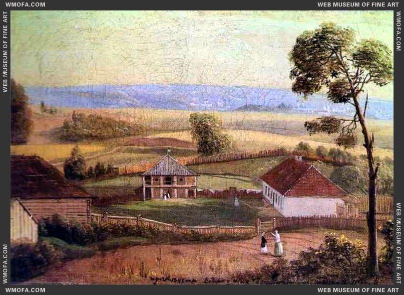 View in Estate Zhirovitse 1847 by Khrutsky, Ivan