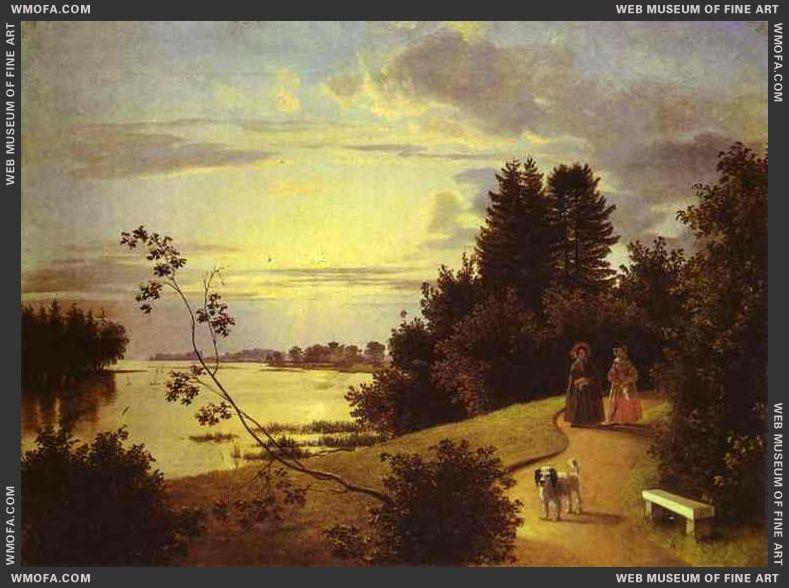 View on Yelagin Island in St Petersburg 1839 by Khrutsky, Ivan