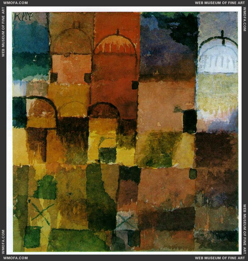 Red and White Domes 1914 by Klee, Paul
