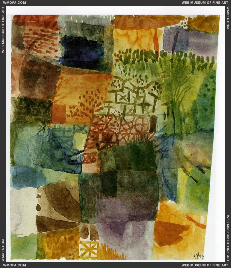 Remembrance of a Garden 1914 by Klee, Paul