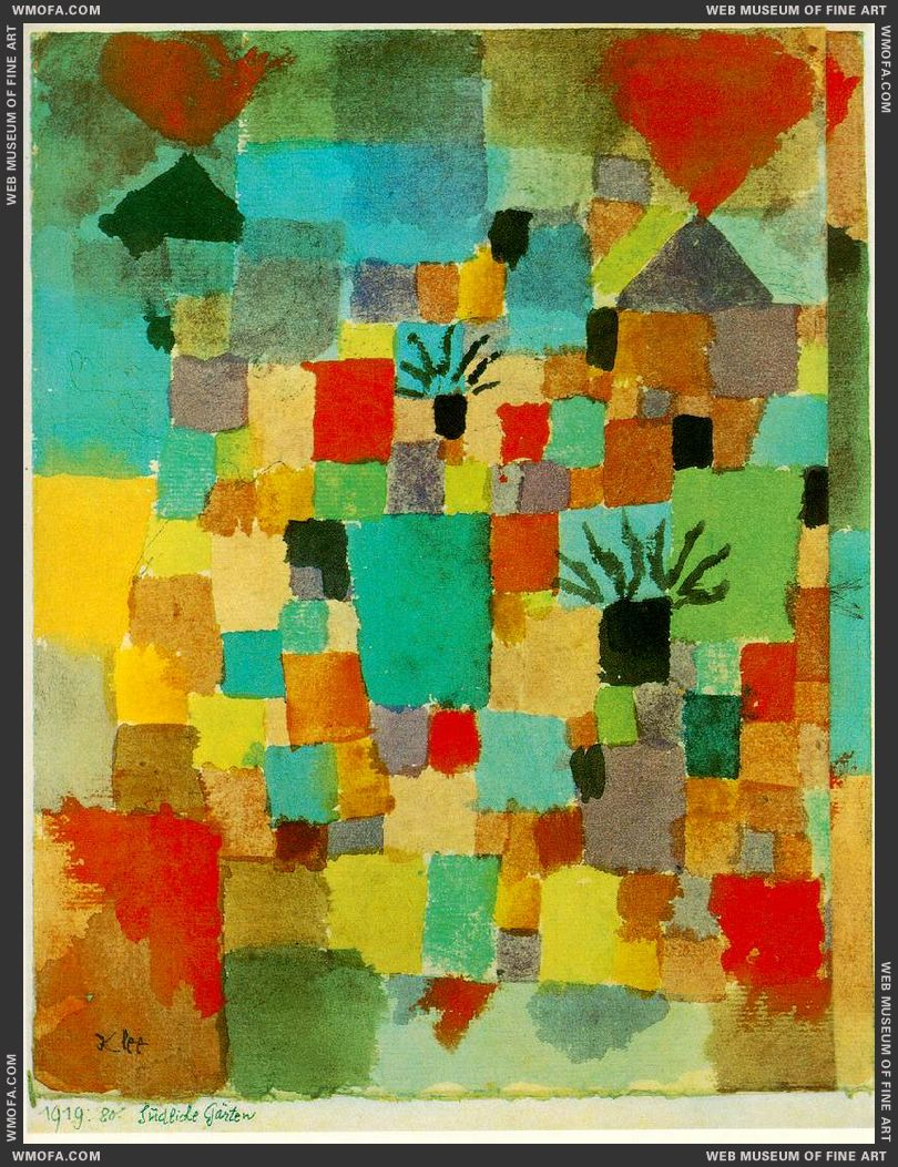 Southern Tunisian Gardens 1919 by Klee, Paul