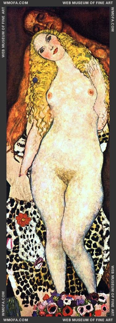 Adam and Eve - unfinished 1917-1918 by Klimt, Gustav