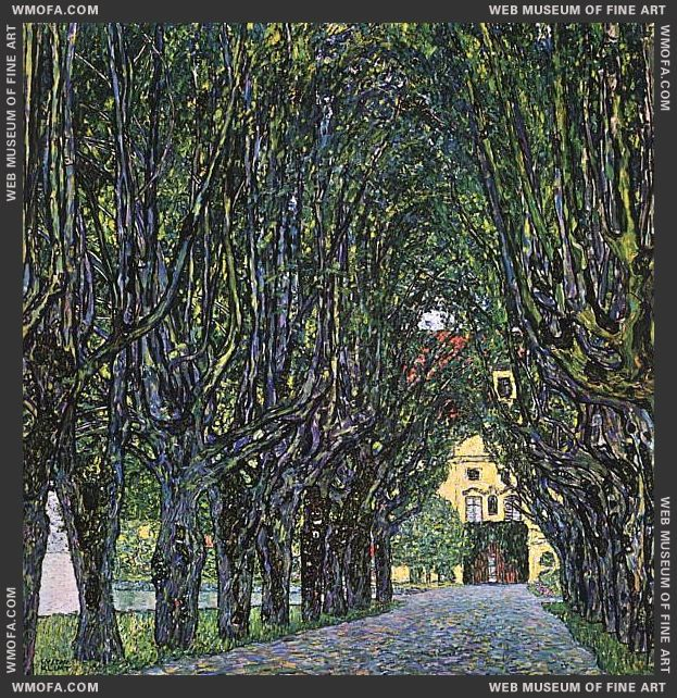 Avenue in Schloss Kammer Park 1912 by Klimt, Gustav