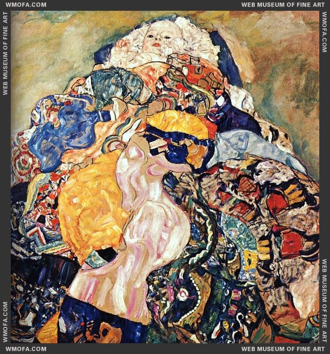 Baby - unfinished 1917-1918 by Klimt, Gustav