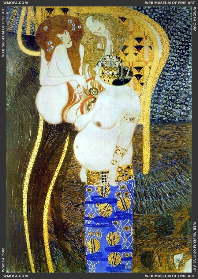 Beethoven Frieze detail - Unchastity Lust and Gluttony 1902 by Klimt, Gustav