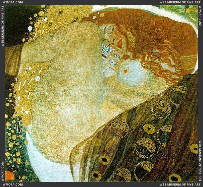 Danae 1907-1908 by Klimt, Gustav