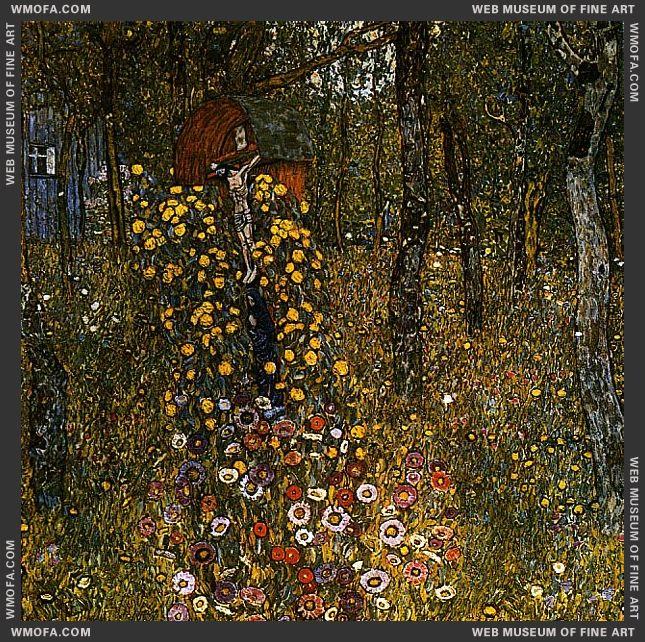 Farm Garden with Crucifix 1911-1912 by Klimt, Gustav