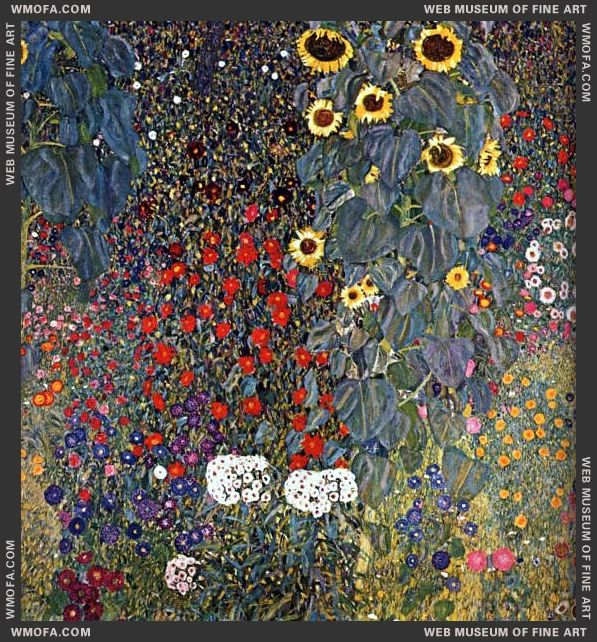 Farm Garden with Sunflowers 1905-1906 by Klimt, Gustav