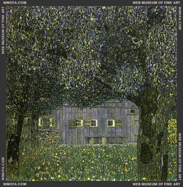 Farmhouse in Upper Austria 1911-1912 by Klimt, Gustav