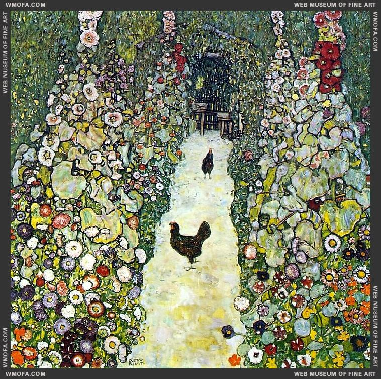 Garden Path with Chickens 1916 by Klimt, Gustav