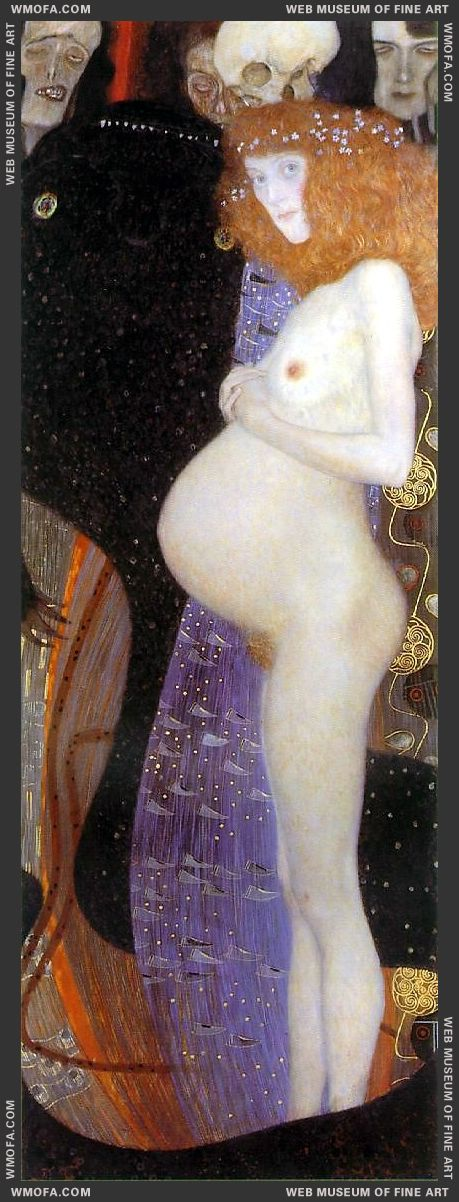 Hope I 1903 by Klimt, Gustav