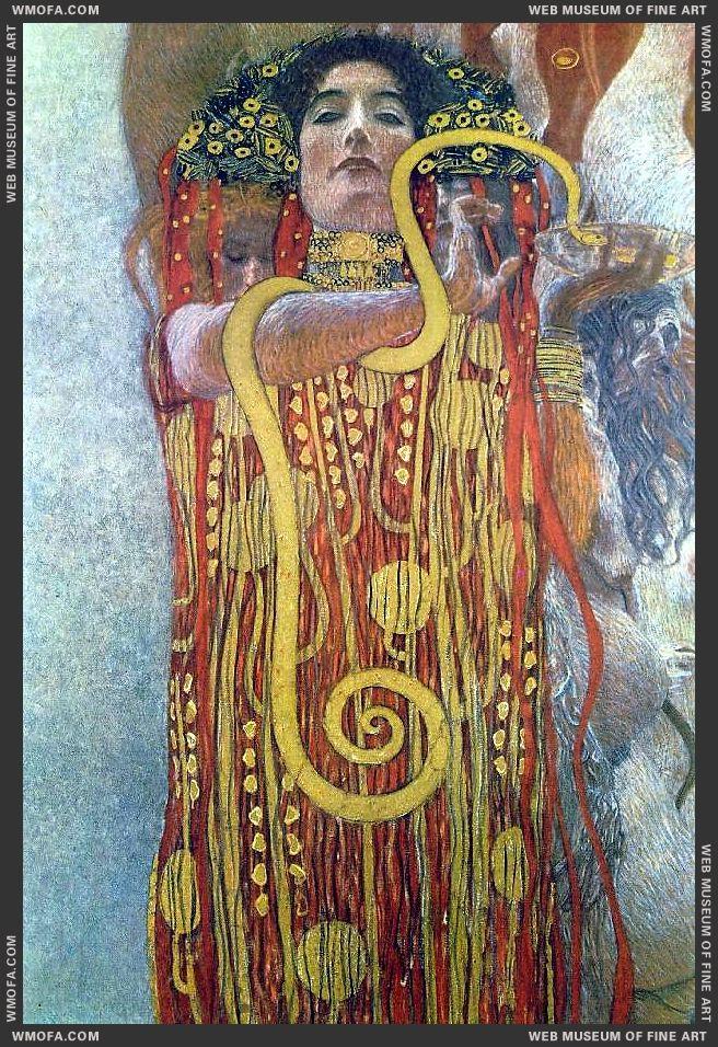 Hygeia detail - Medicine 1907 by Klimt, Gustav