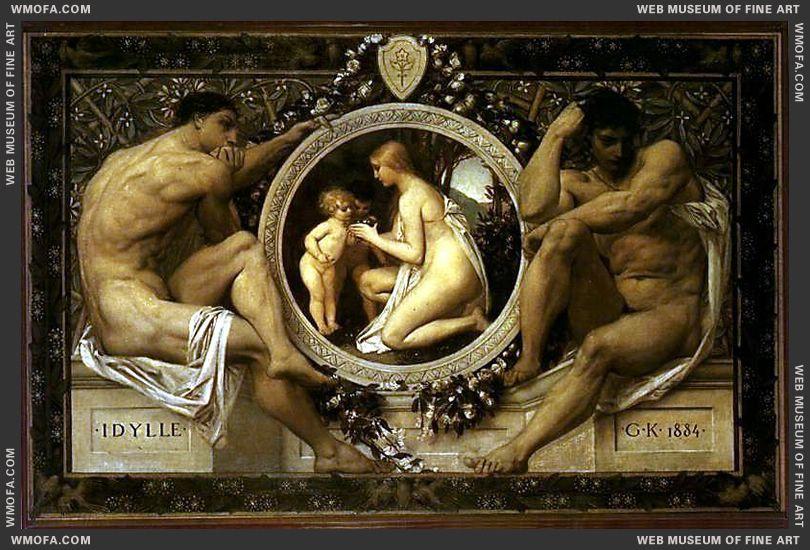 Idylle 1884 by Klimt, Gustav