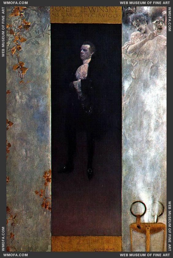 Josef Lewinsky 1895 by Klimt, Gustav