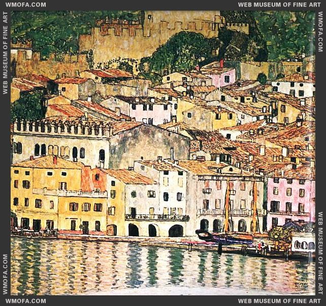 Malcesine on Lake Garda 1913 by Klimt, Gustav