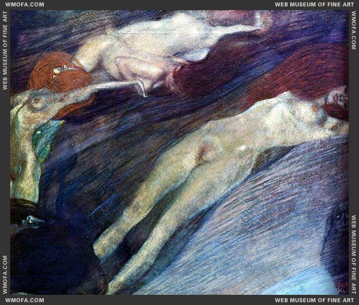 Moving Water 1898 by Klimt, Gustav