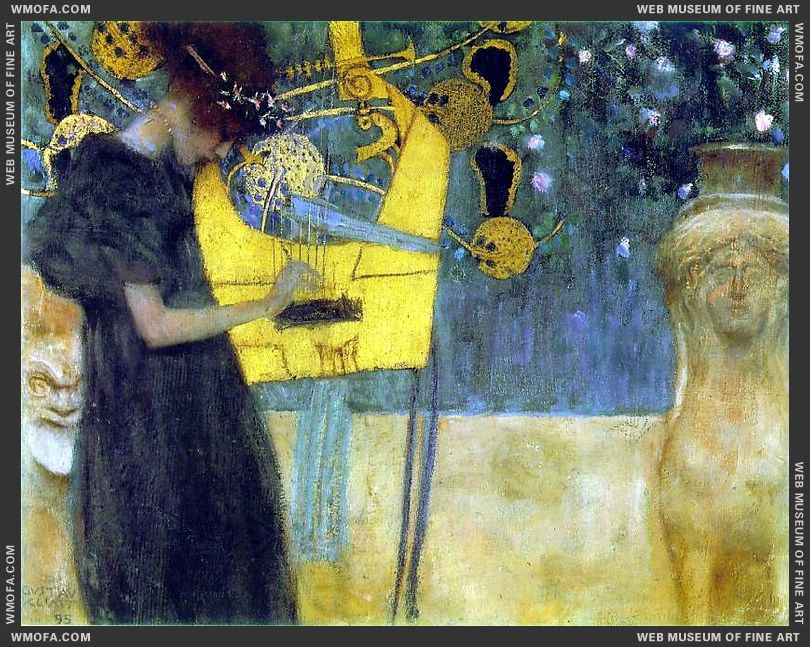 Music I 1895 by Klimt, Gustav