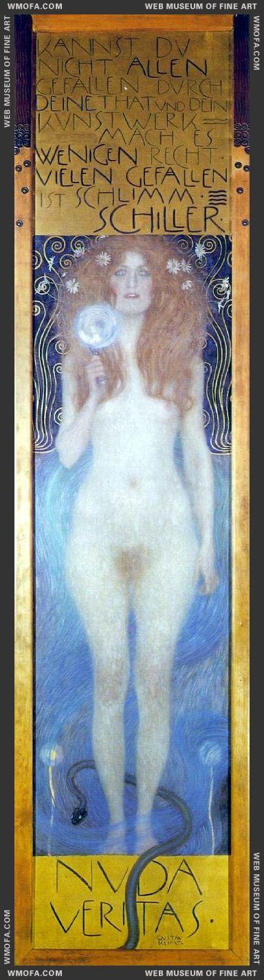 Nude Veritas 1899 by Klimt, Gustav