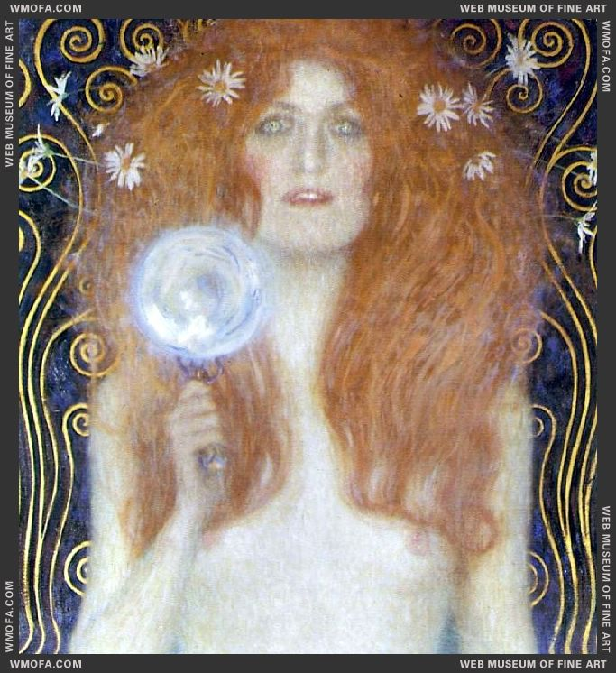 Nude Veritas detail 1899 by Klimt, Gustav