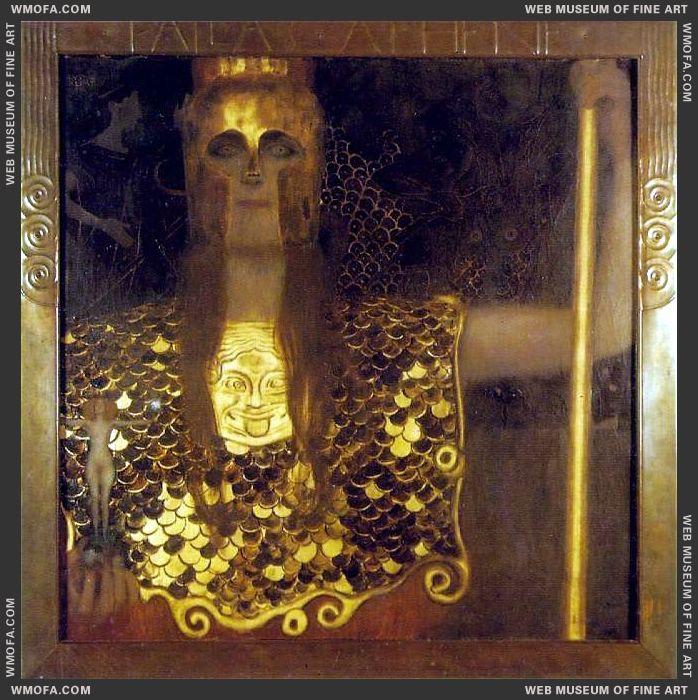 Pallas Athene 1898 by Klimt, Gustav