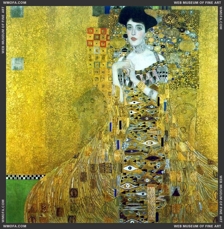 Portrait of Adele Bloch-Bauer I 1907 by Klimt, Gustav