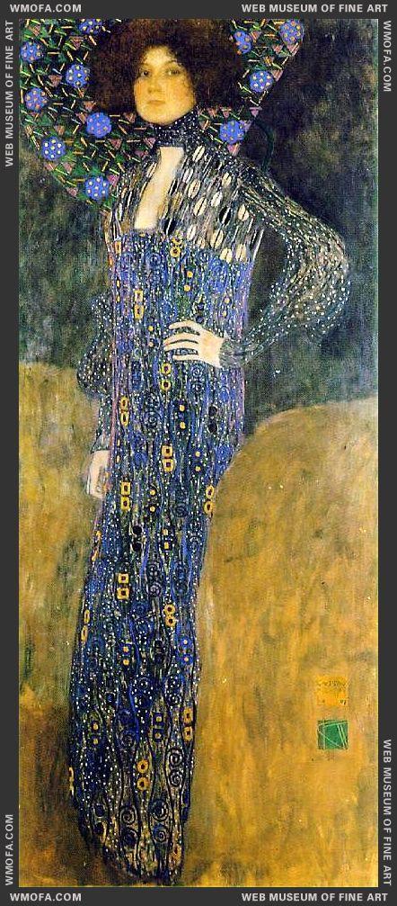 Portrait of Emilie Floge 1902 by Klimt, Gustav