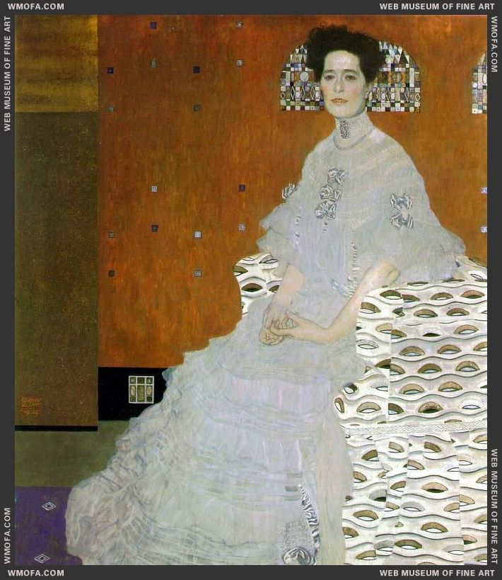 Portrait of Fritza Riedler 1906 by Klimt, Gustav