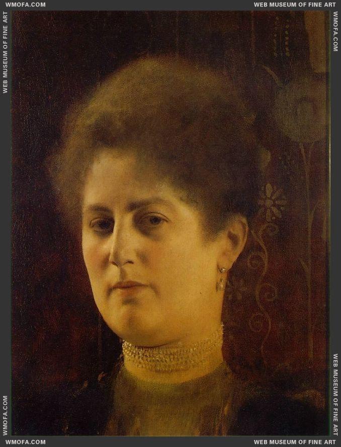 Portrait of a Lady c1894 by Klimt, Gustav