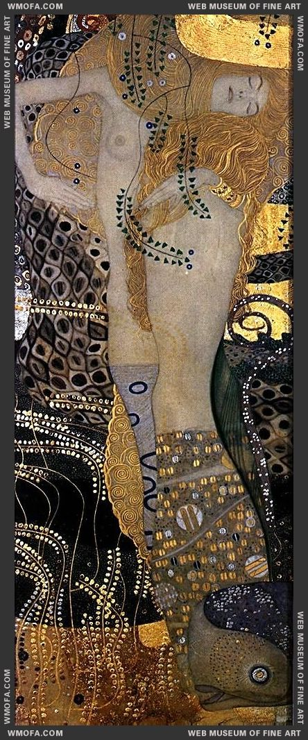 Serpents I 1904-1907 b by Klimt, Gustav