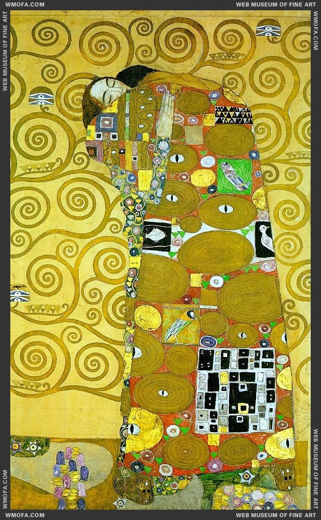 Stoclet Frieze - Fulfillment 1905-1909 by Klimt, Gustav