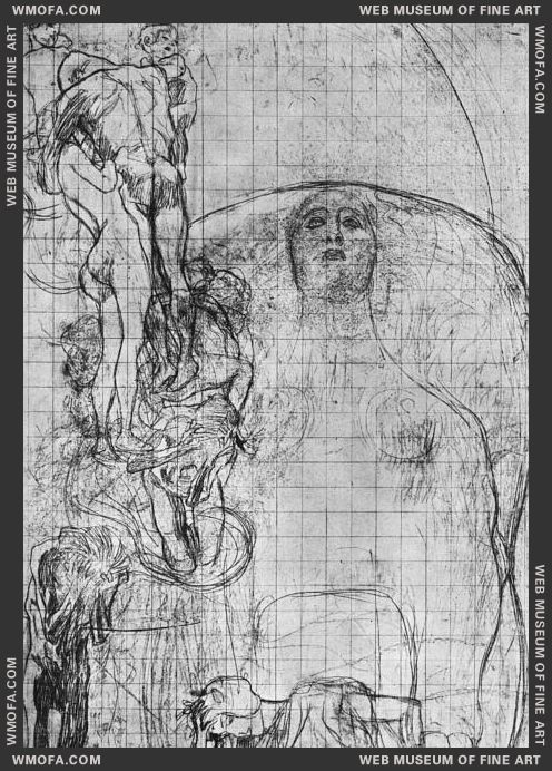Study for Philosophy 1898-1899 by Klimt, Gustav