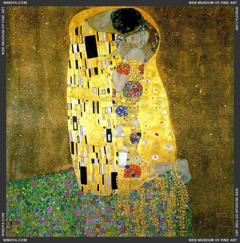 The Kiss 1907-1908 by Klimt, Gustav