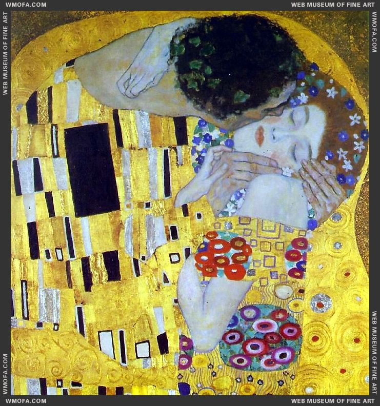 The Kiss detail 1907-1908 by Klimt, Gustav