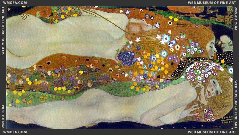 Water Serpents II 1904-1907 by Klimt, Gustav