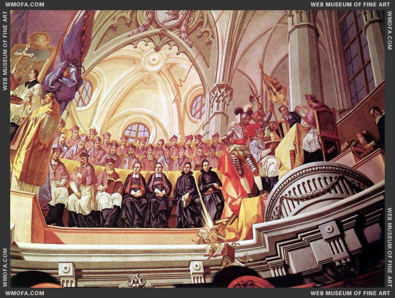 The Council in Trident fresco detail-b 1778 by Kracker, Johann Lucas