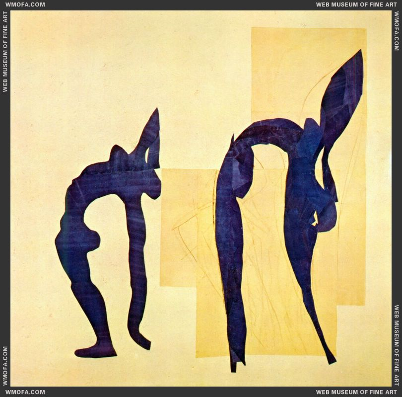 Acrobats 1952 by Matisse, Henri