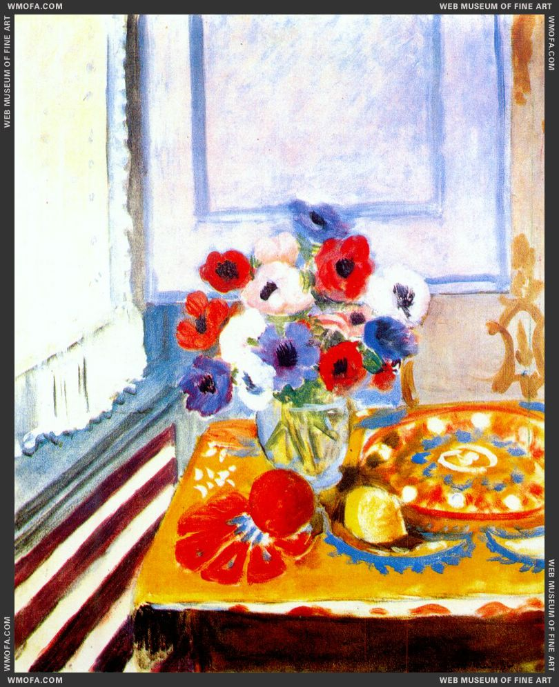 Anemones by the Window 1924 by Matisse, Henri