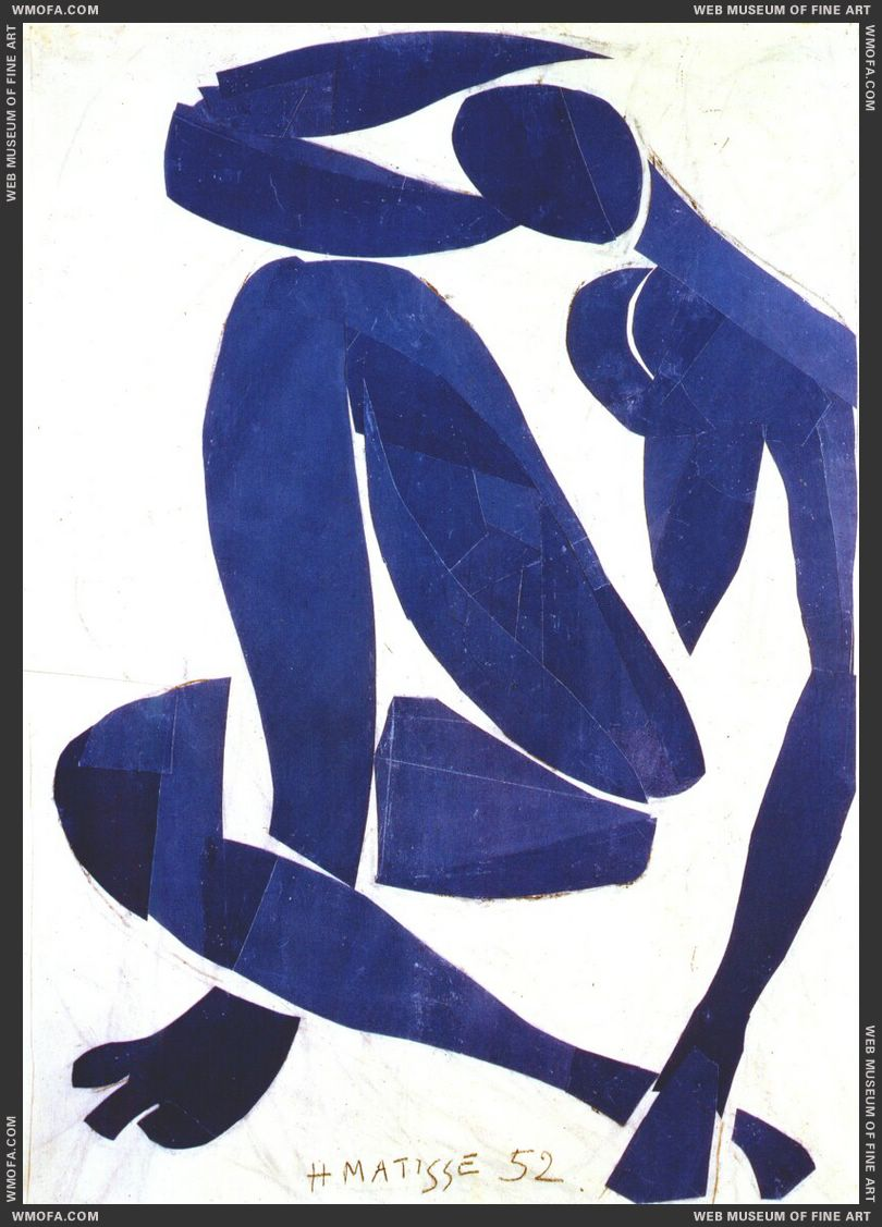 Blue Nude IV 1952 by Matisse, Henri
