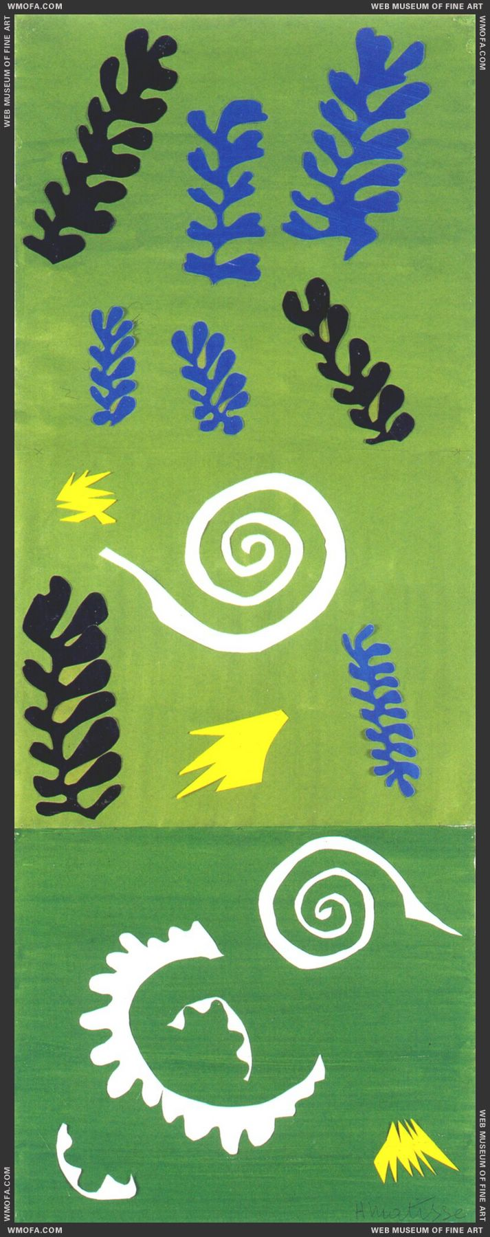 Composition on Green Ground 1947 by Matisse, Henri