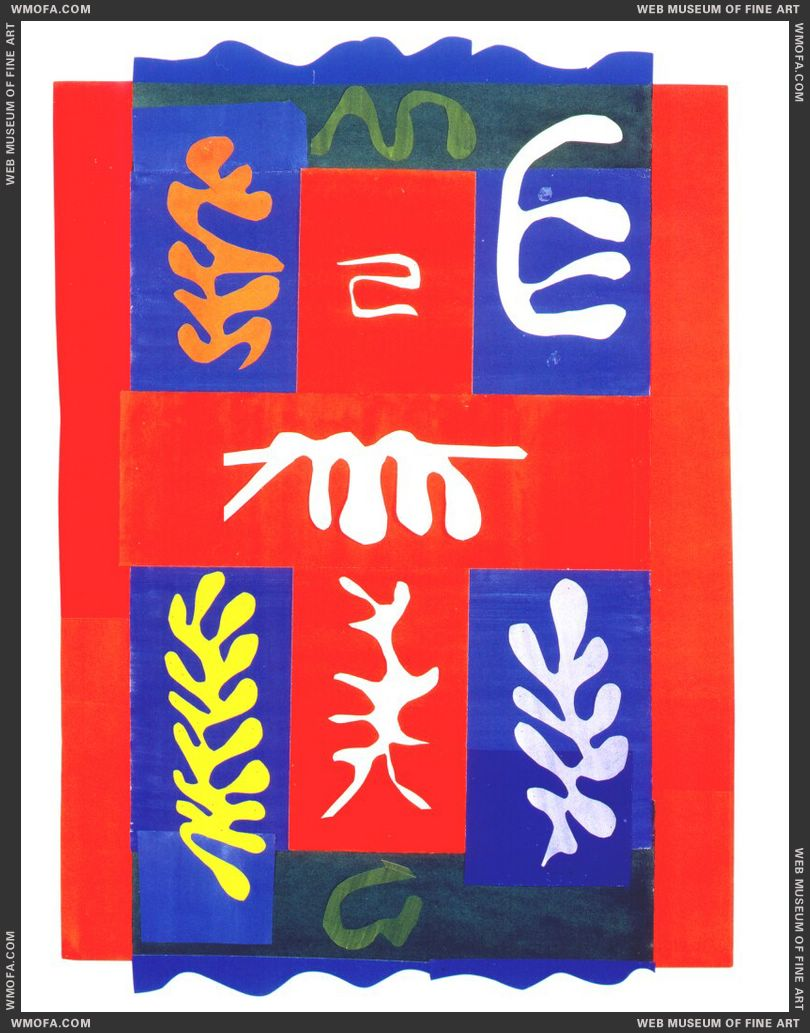 Composition with Red Cross 1947 by Matisse, Henri