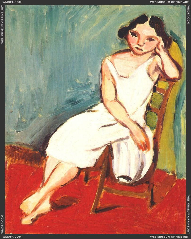 Girl Seated 1909 by Matisse, Henri