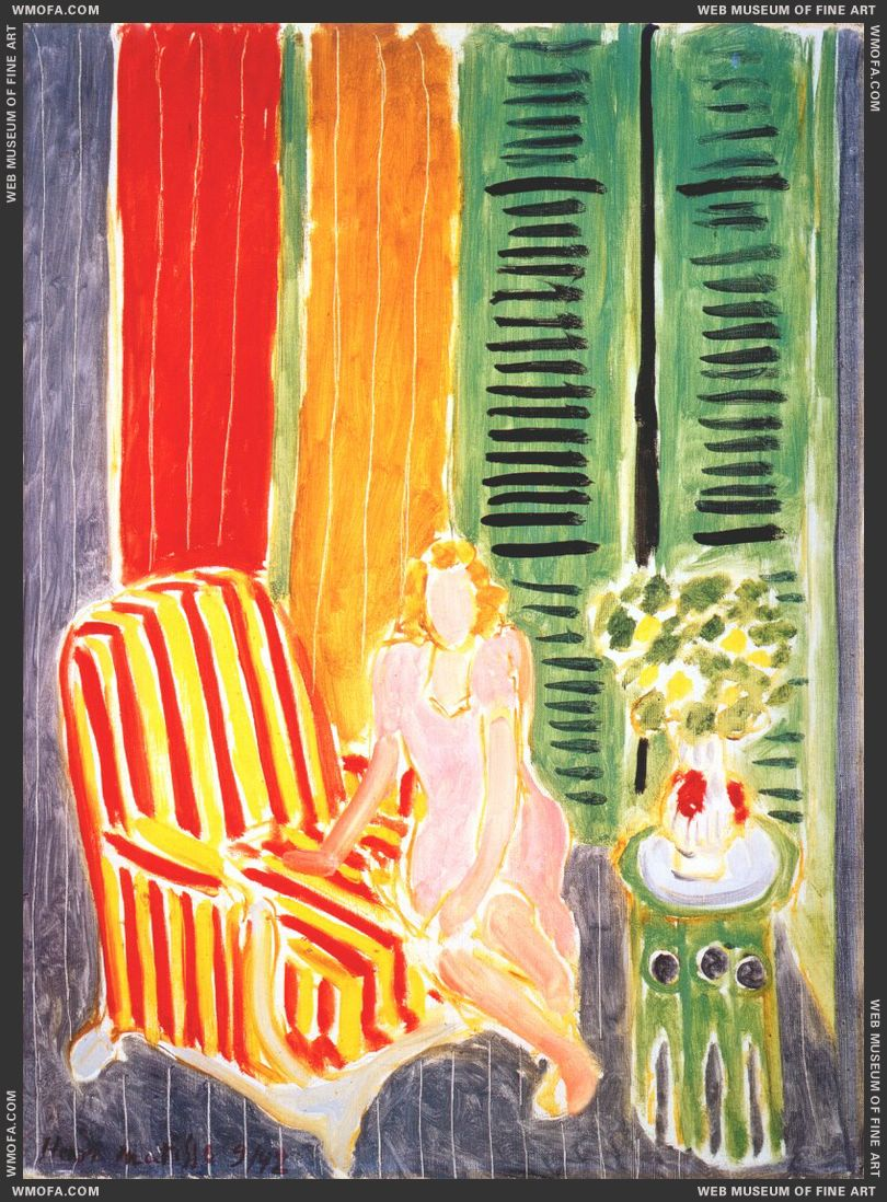Girl in Pink in an Interior 1942 by Matisse, Henri