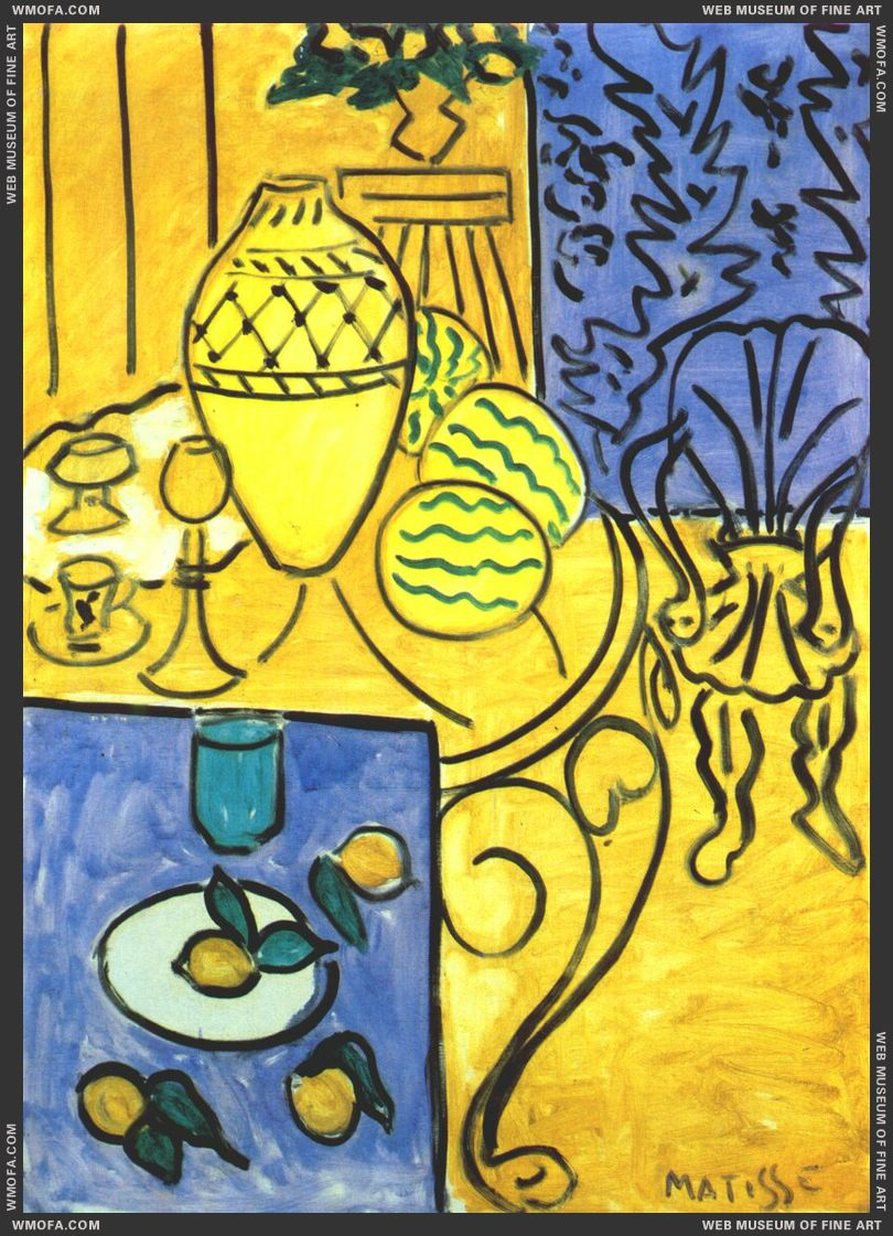 Interior in Yellow and Blue 1946 by Matisse, Henri