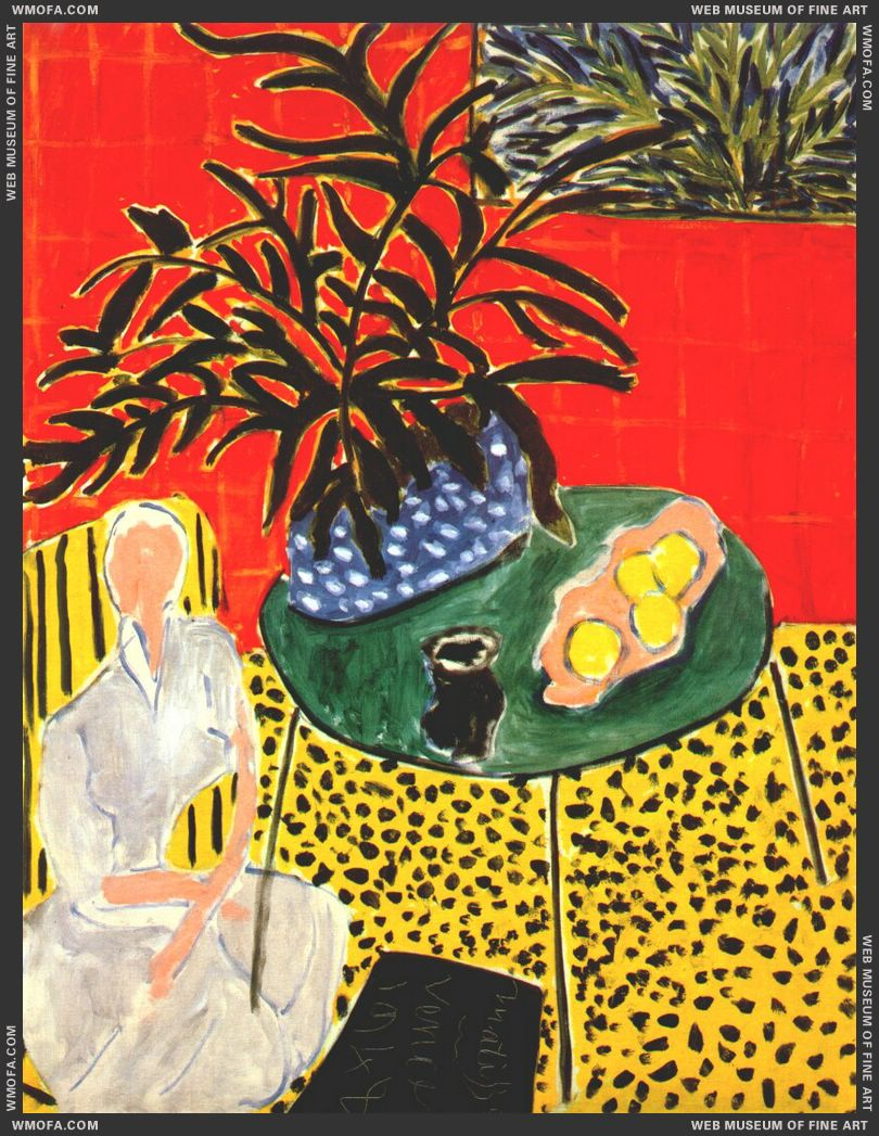 Interior with Black Fern 1948 by Matisse, Henri