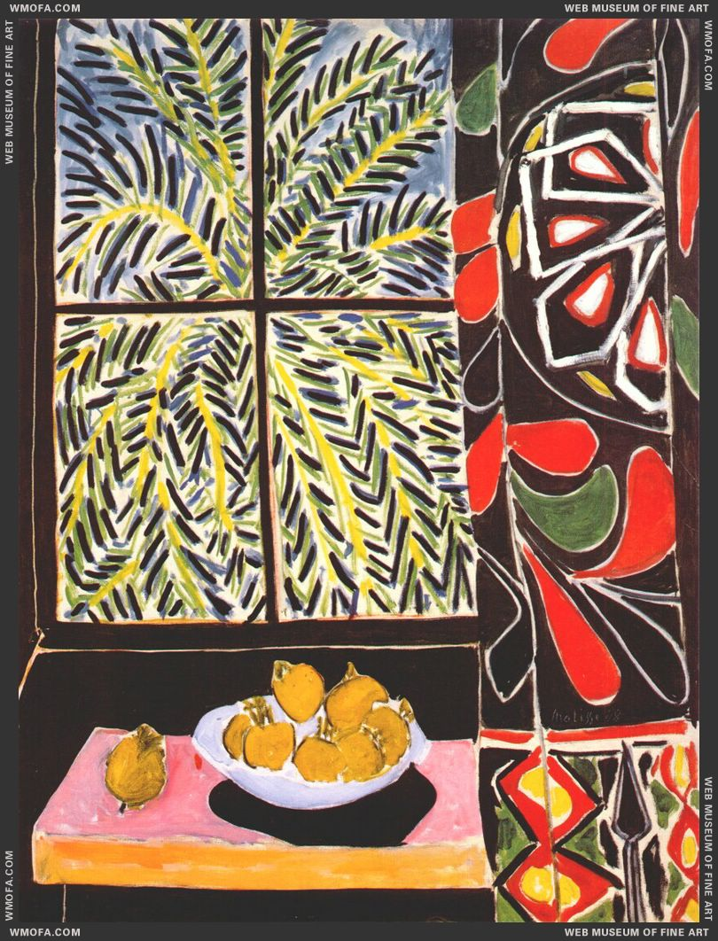 Interior with Egyptian Curtain 1948 by Matisse, Henri
