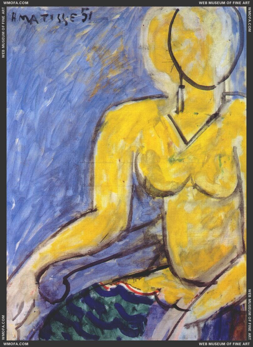 Katia in a Yellow Dress 1951 by Matisse, Henri