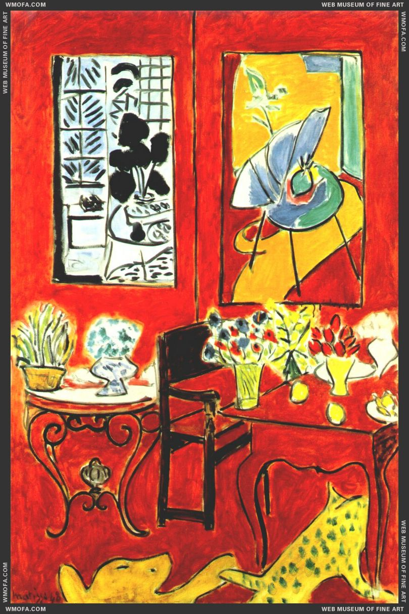 Large Red Interior 1948 by Matisse, Henri