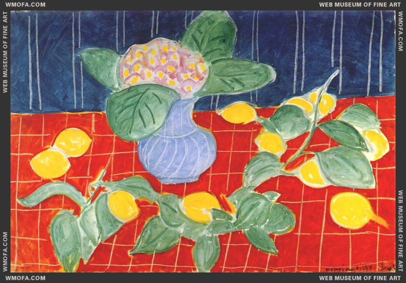 Lemons and Saxifrages 1943 by Matisse, Henri