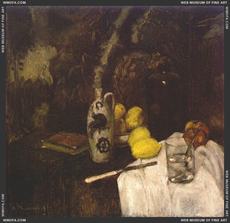 Lemons and a Schiedam Bottle 1896 by Matisse, Henri