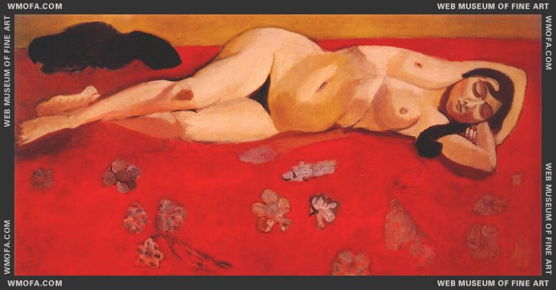 Lorette Reclining (Nude) 1916-17 by Matisse, Henri